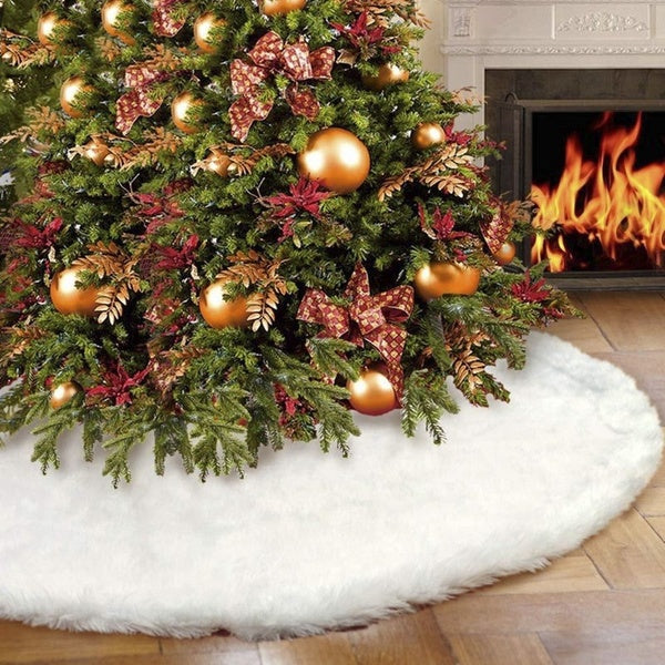 Christmas Tree Skirts White Plush Xmas Decorations Carpet