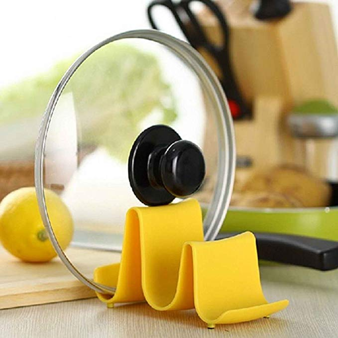 Wave Shape Pan Spoon Pot Cover Lid Rack Storage Stand Holder Kitchen Tool