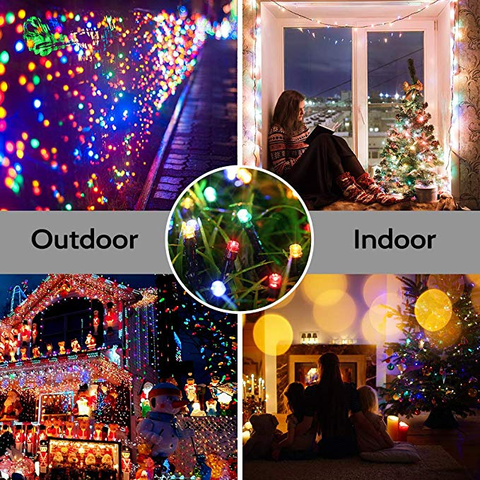 Solar String Lights 72ft 200 LED 8 Modes Waterproof Decorative Fairy String Lights for Indoor Outdoor Decorations
