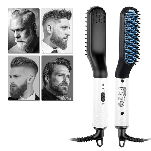 Electric Hot Comb for Men, Beard Straightening Comb, Dual Voltage 110-240V