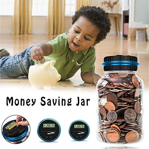 Digital Creative Fashion LCD Screen Coin Counting Save Money Automated Coin Bank