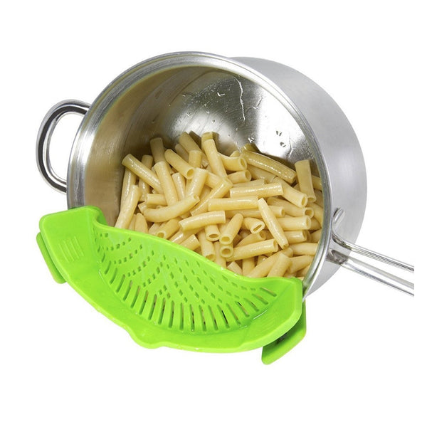 Portable Silicone Grid Strainer Colander Fits all Pots and Bowls for Noodle Vetgetable