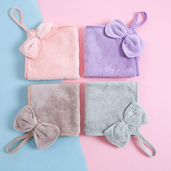 Multi-purpose Coral Velvet Hanging Towel