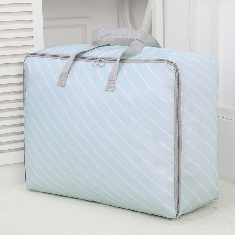 New Large Oxford Cloth Striped Quilt Storage Bag Washable 4 Size