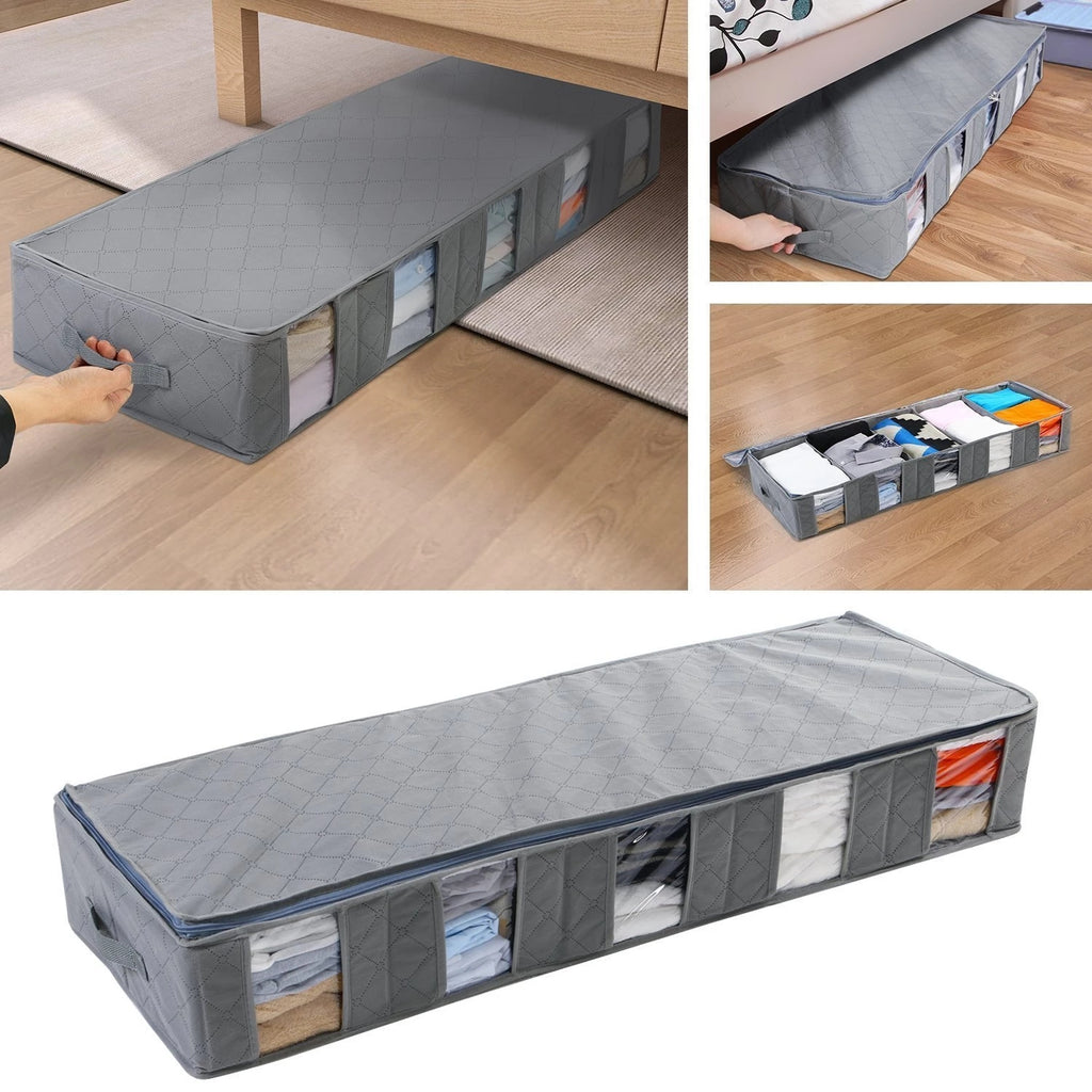 52L  Underbed Bamboo Charcoal 5 Slots  Storage Bags