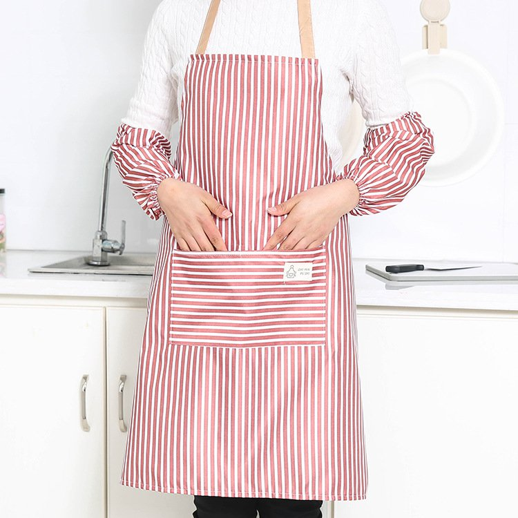 Apron + Oversleeves with Home Chores of Daily Necessities