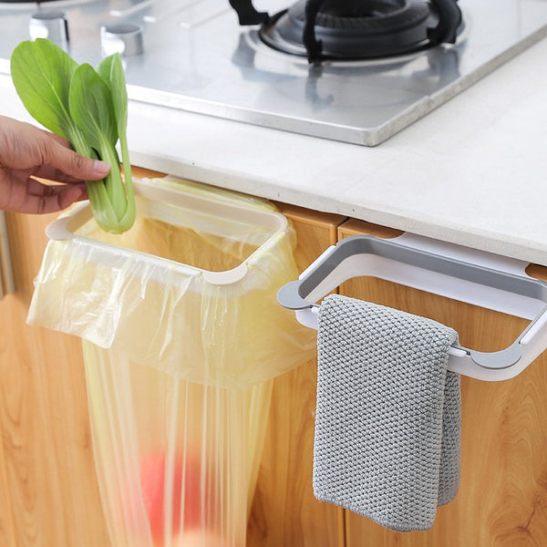 Plain Kitchen Door Back Portable Garbage Bag Bracket