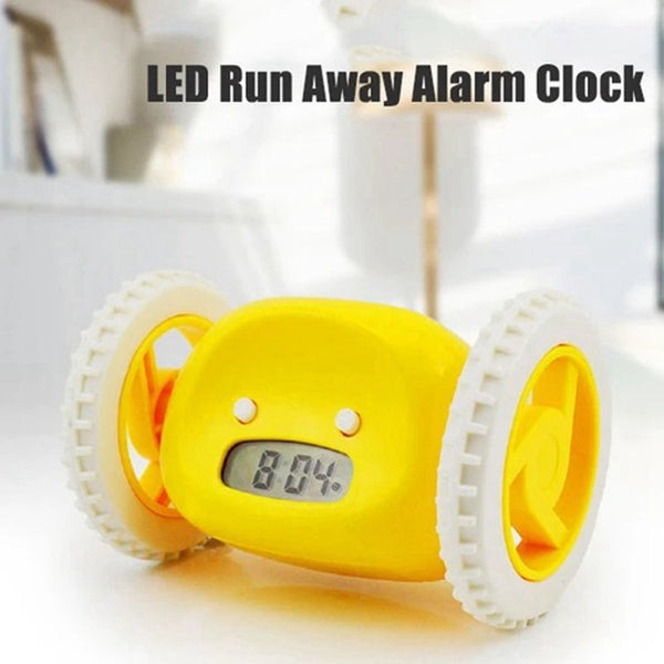 Multifunction LED Run Away Alarm Clock