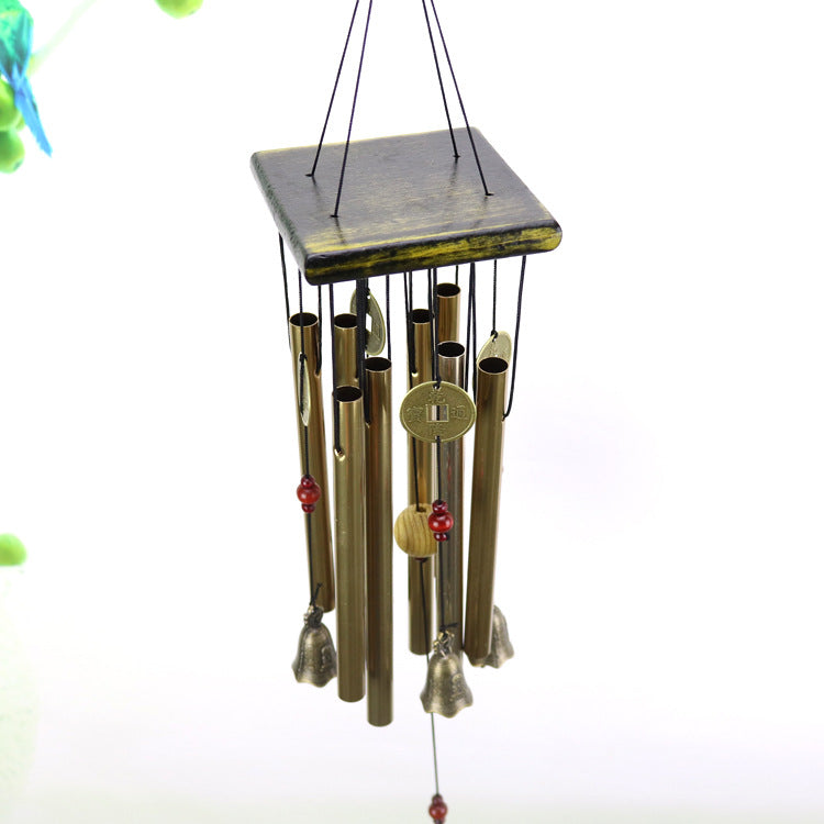 Antique 8 Tubes Copper Church Garden Outdoor Hanging Wind Chimes