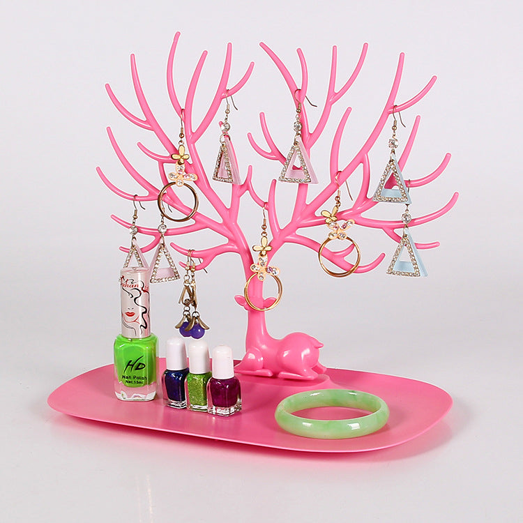 Jewelry Display Tree Deer Stand Holder Rack Show Earring Necklace Ring 3 Colours