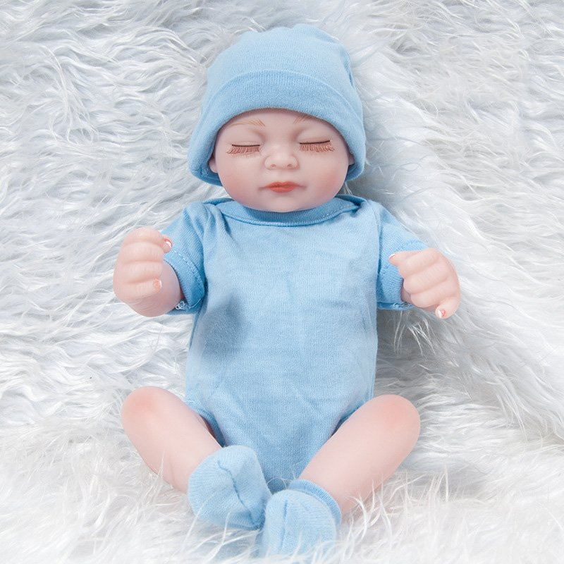 Soft Silicone Cute Reborn Baby Boy Newborn Lovely Boy Lifelike Toy