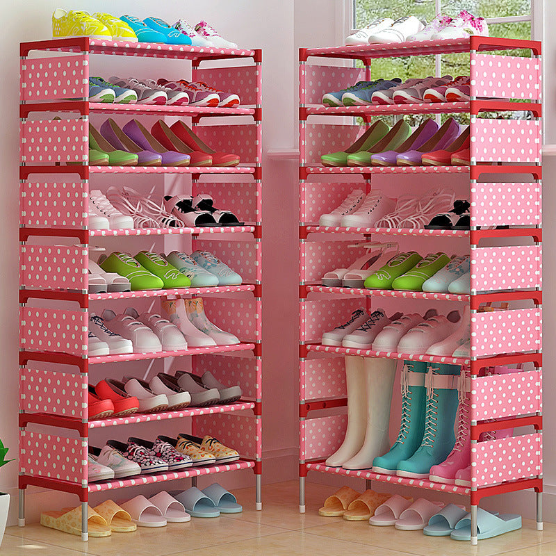 9 Tiers Large Capacity Adjustable Non-woven Fabric Shoe Rack
