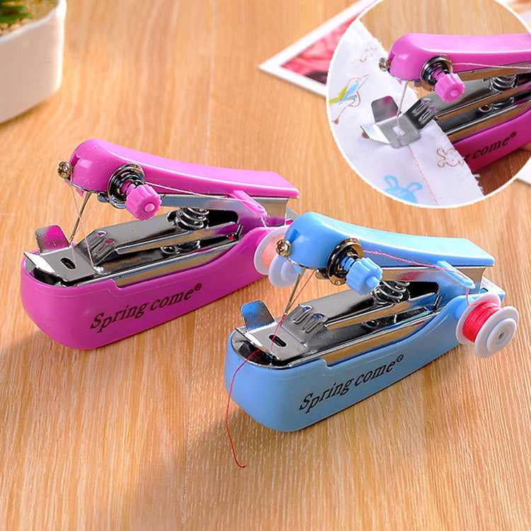 Portable Mini Manual Clothes Sewing Machine Handcraft DIY