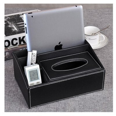 Multifunctional Leather Desktop Storage Box Waterproof Paper Box