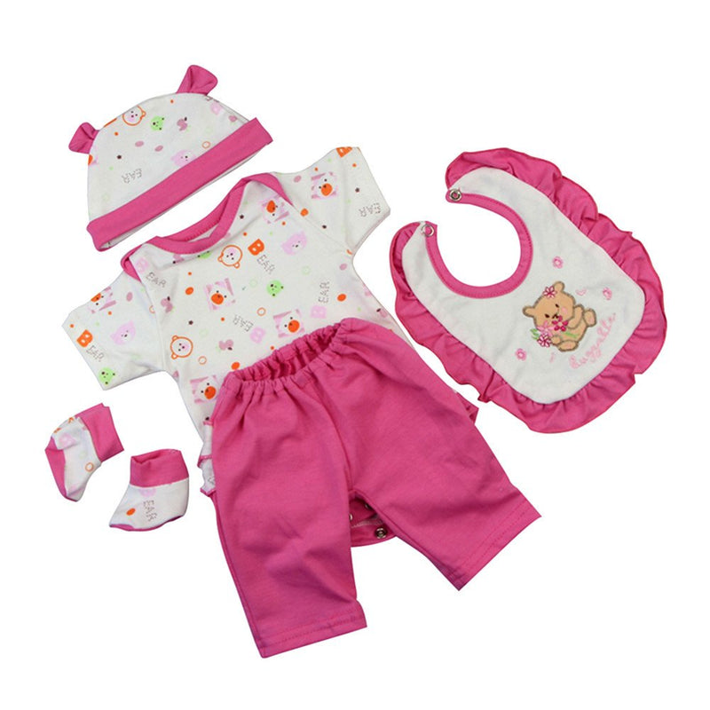 Pink Printed Pajamas Clothes Fit 42-45 Cm Baby Doll