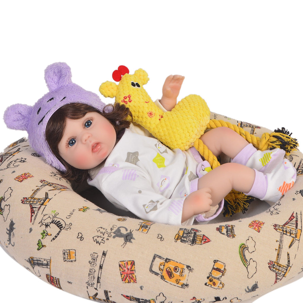 Reborn baby doll 17 inch Reborn Doll Cloth Body Curling Simulation Baby Girl Gifts