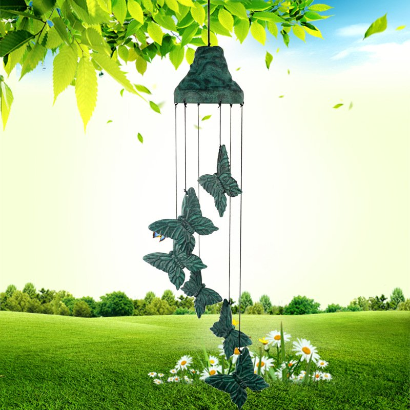 24 Inch Retro Butterfly Wind Chime for Home Garden Decor Gift
