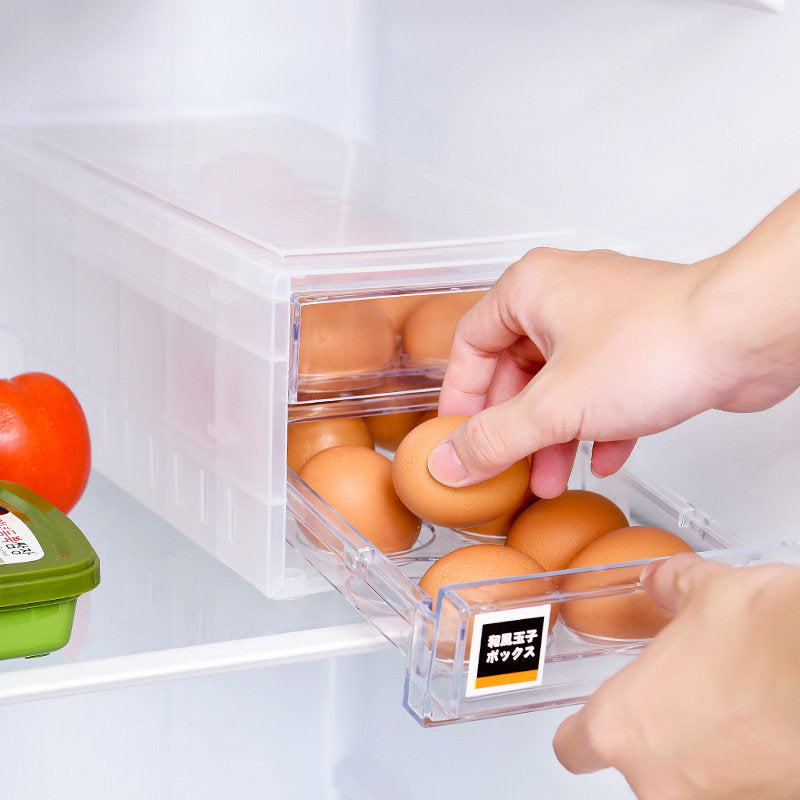 Kitchen Egg Storage Rack Refrigerator Freezer Storage Box