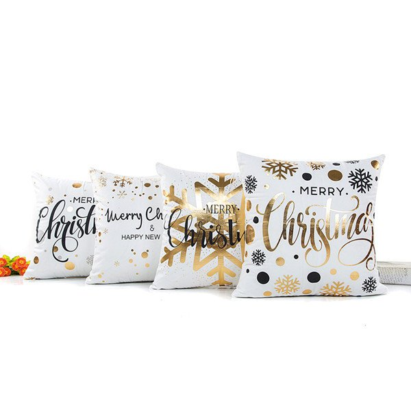 Northern European Style Christmas Pillow Case Cushion Cover for Home Office Car Decor