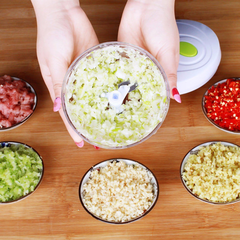 Convenient Manual Pull Rope Food Vegetable Blender Chopper