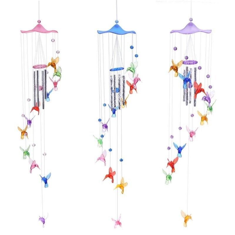 Hummingbird Dolphin Wind Bells Wind Chimes Hanging Gifts Home Decor