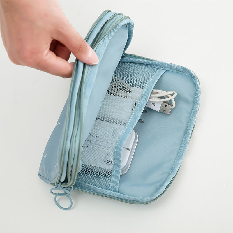 Multi-functional Travel Two-layer Passport Wire Storage Bags