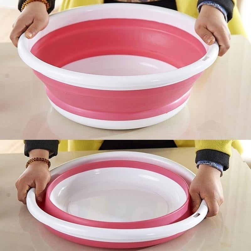 Creative Collapsible Water Basin Portable Travel Basin Outdoor Folding Basin