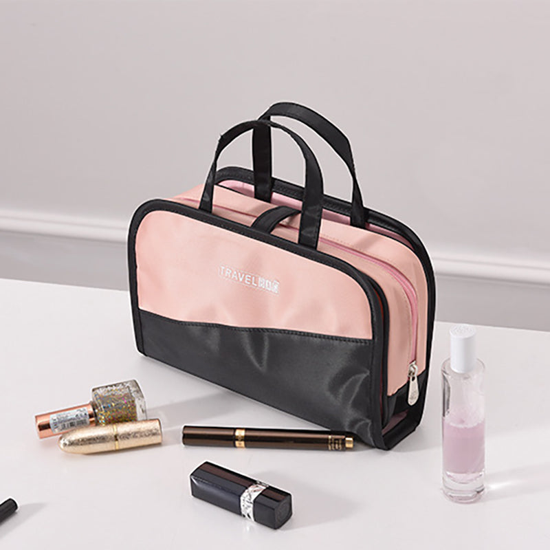Female Portable Travel Storage Bag Cosmetic Storage Bag Large Capacity 2 In1 Cosmetic Bag