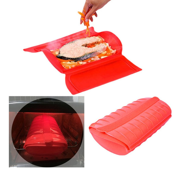 Food Grade Silicone Lunch Box Microwave Oven Special Steamed Bowl Steamed Fish Bowl High Temperature Resistant Cooking Box