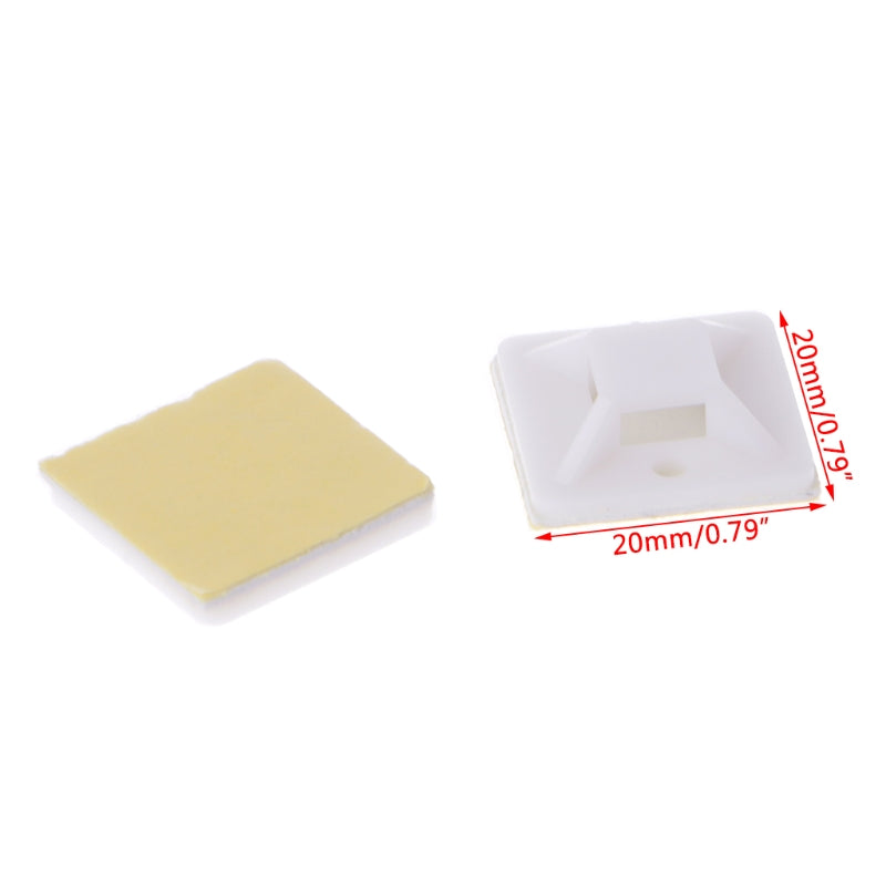 100 Pcs DIY Self Adhesive Cable Wire Mounts Mounting Base