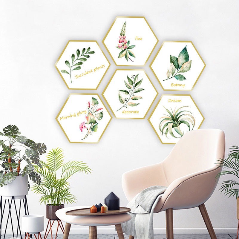 Plant Photo Frame Decorative Sticker Home Decorative Wall Sticker Removable Sticker