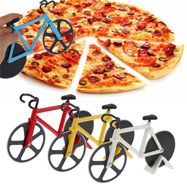 Bicycle Pizza Cutter Professional Stainless Steel Non-stick Bike Round Pizza Slicer