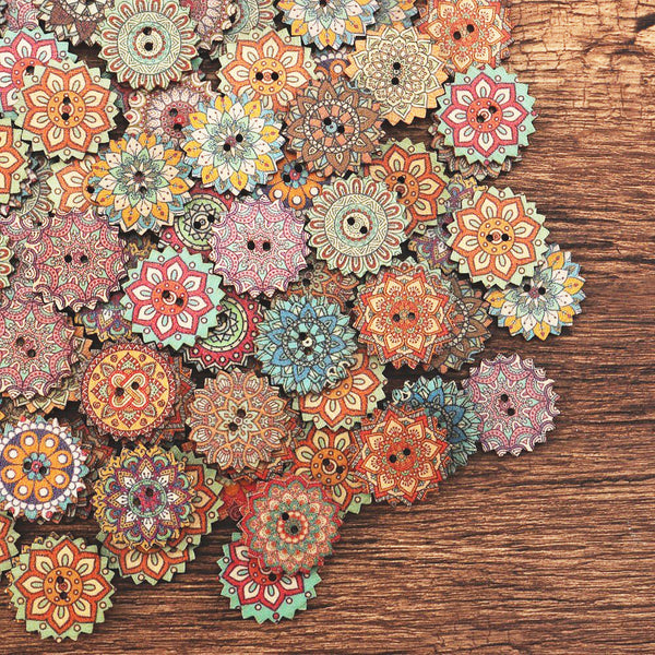 Bohemia Style Wooden Sewing Buttons