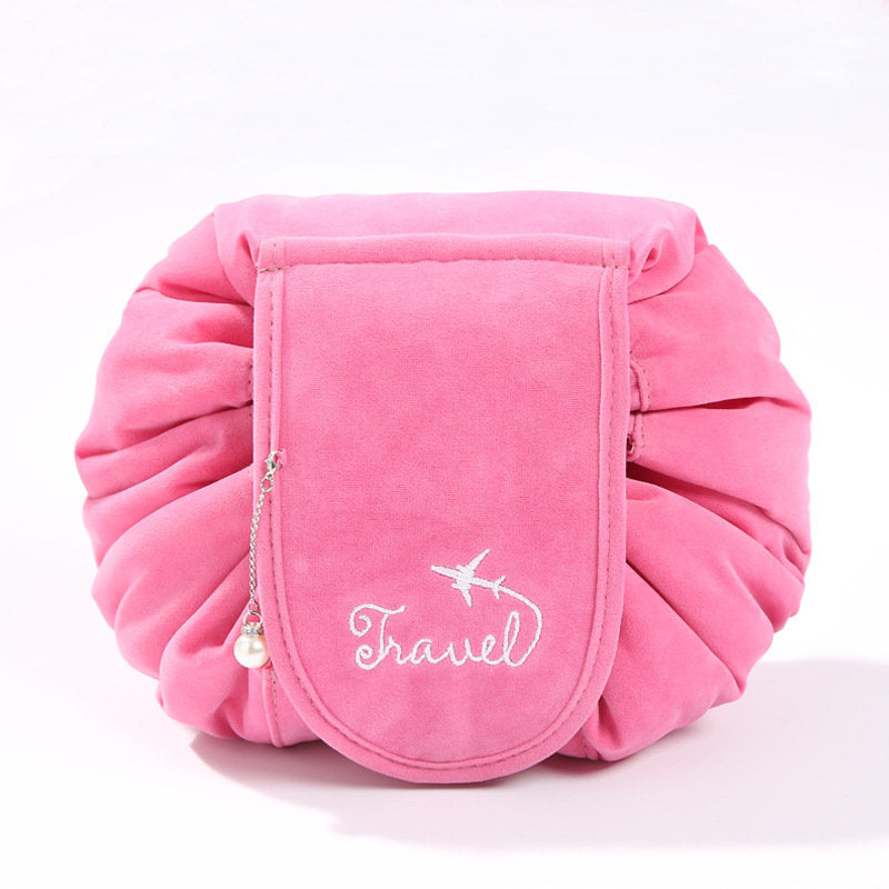 Upgrade Oxford Cloth Velvet Lazy Bundle Mouth Drawstring Cosmetic Bag Large Capacity Wash Bag
