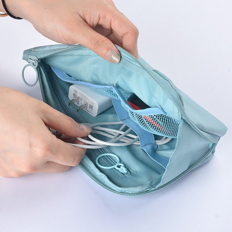 Electronics Organizer Bags Headphone Protective Case Coin Money Storage Container