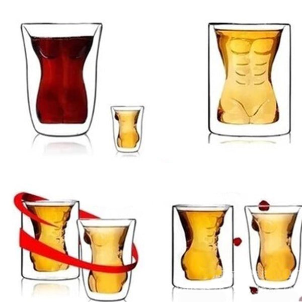 Couple Cups Naked Muscle Man Wine Glass Drink cup Cocktail Glass Whisky Glass