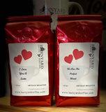 Valentine Gift Set | White Canister |  2 Bag Coffee Variety