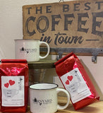 Valentine Gift Set | 2 Campfire Mugs |  2 Bag Coffee Variety