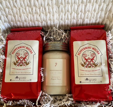 Gift Set | Antique Candle Co Peppermint & Peppermint Mocha Coffee