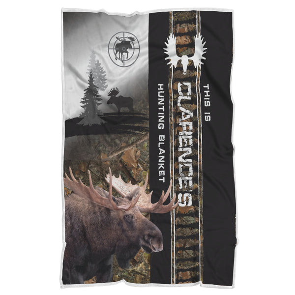Personalized Moose Hunting Blanket