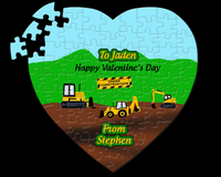 Construction Site Heart Valentine Puzzle