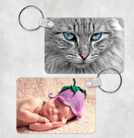 Double Sided Photo Keytag