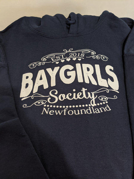 Clearance-2X Navy Baygirls Society Hoodie