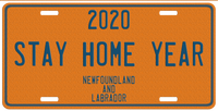Stay Home Year License Plate