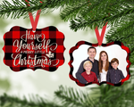 Christmas Ornament - Family Plaid