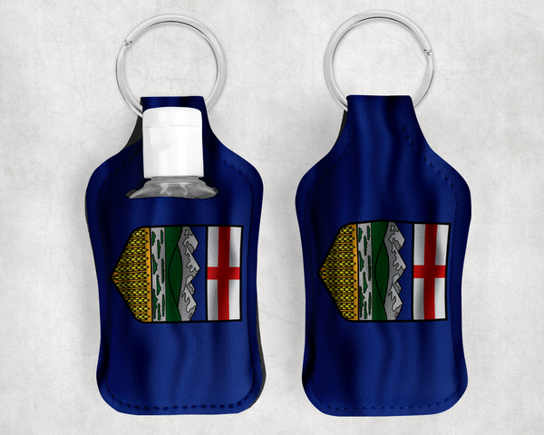 Alberta Flag Sanitizer Holder
