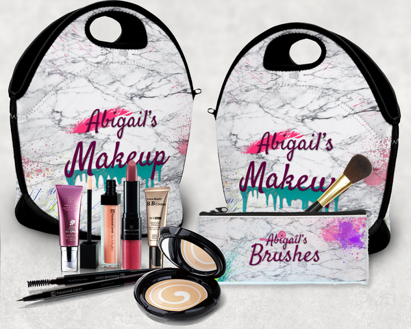 Makeup Bag and Brush Pouch