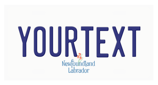 Customized Newfoundland and Labrador Plate
