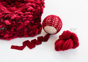 Crimson Curls Set