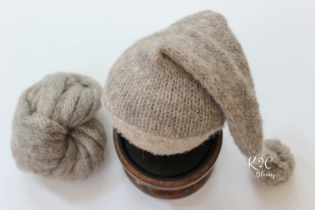 Pom Sleepy Cap Set - Neutrals